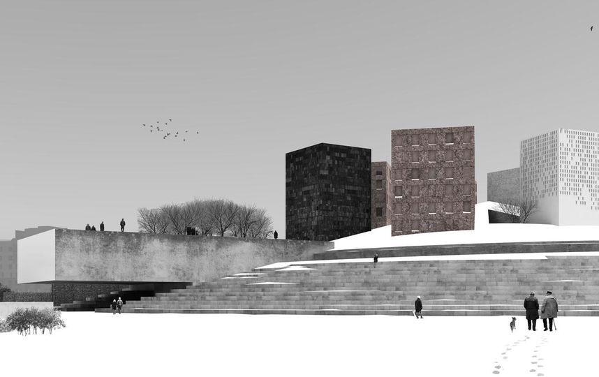 """Создатели проекта трактуют музей «не как здание, а как ландшафтный объект, скульптуру в парке». Фото проект «Студии 44», """"Metro"""""""