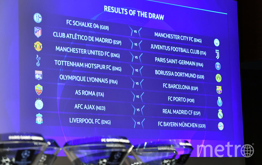 Пары соперников 1/8 финала Лиги чемпионов. Фото AFP