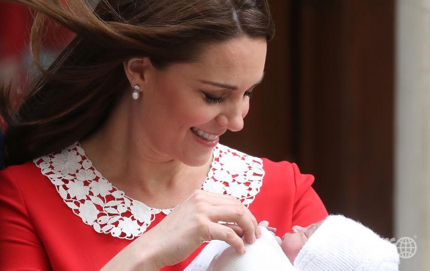 Кейт Миддлтон после рождения принца Луи. Фото Getty