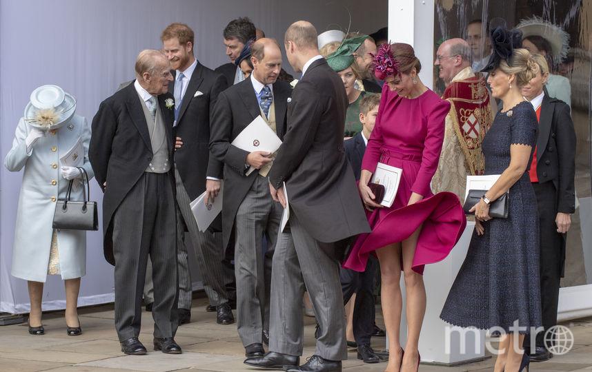 То самое горячее фото у церкви на свадьбе принцессы Евгении. Фото Getty