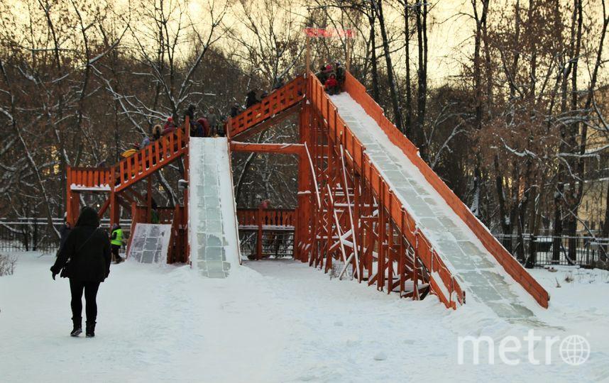 Платная горка в Измайловском парке высотой семь метров. Фото предотсавлено пресс-службой Измайловского парка
