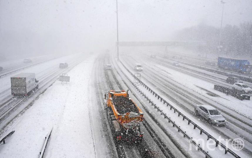 Снег в Петербурге пока в дефиците. Фото Getty