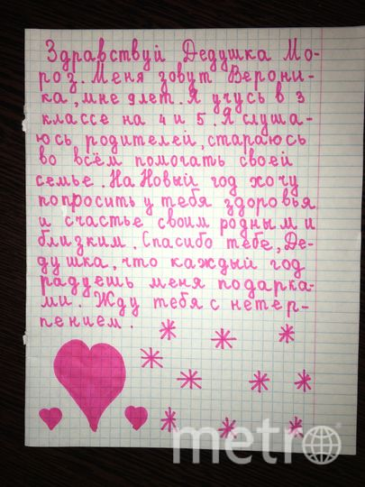 """Алексеева Вероника,  9 лет. Фото Алексеева Ольга Александровна, """"Metro"""""""