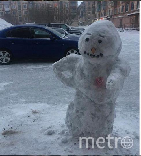 "Instagram-снеговики. Фото ""Metro"""