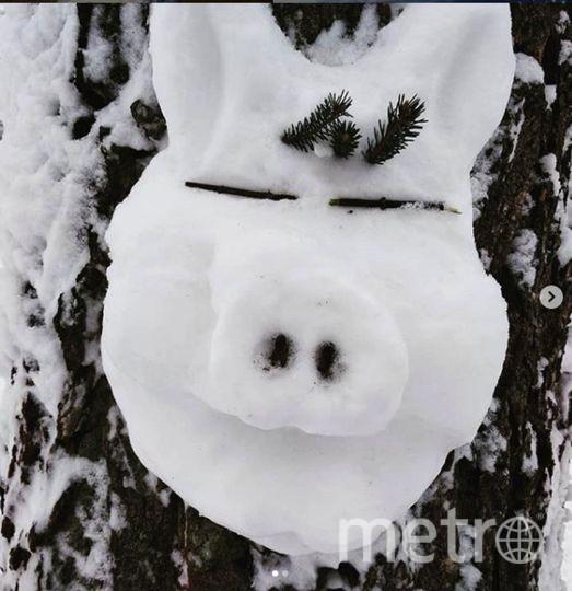 """Instagram-снеговики. Фото https://www.instagram.com/alenka_fesenko/, """"Metro"""""""