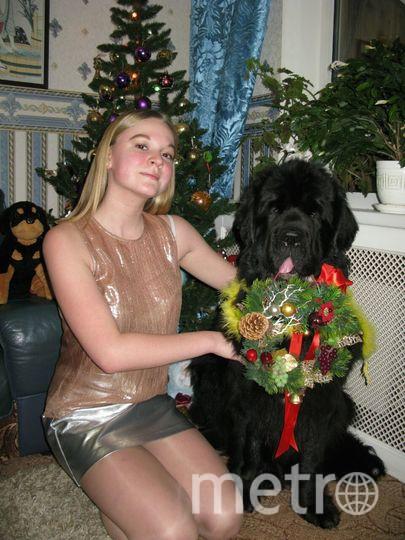 Собака Ника и сестра Алина. Фото Татьяна