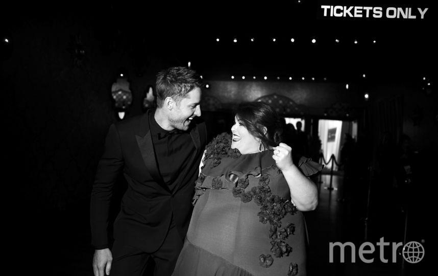 Актеры Джастин Хартли и Крисси Метц за кулисами во время 24-й ежегодной премии Гильдии киноактеров в зале Shrine Auditorium в Лос-Анджелесе.. Фото Getty