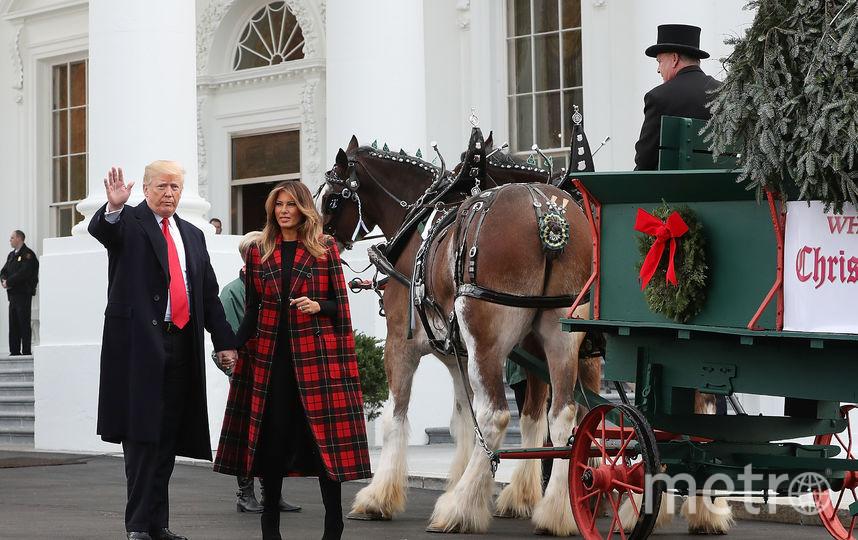 Мелания и Дональд Трамп готовы встречать Рождество. Фото Getty