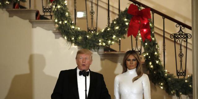 Дональд и Мелания Трамп на балу Конгресса.