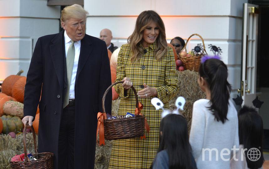 Мелания и Дональд Трамп поздравили детей с Пасхой. Фото Getty