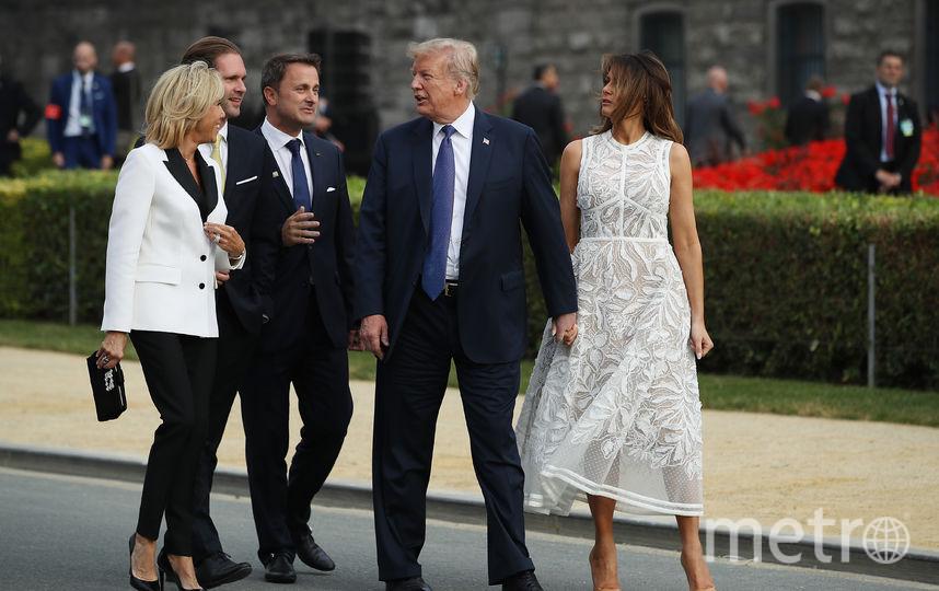 Мелания и Дональд Трамп с супругами Макрон. Фото Getty