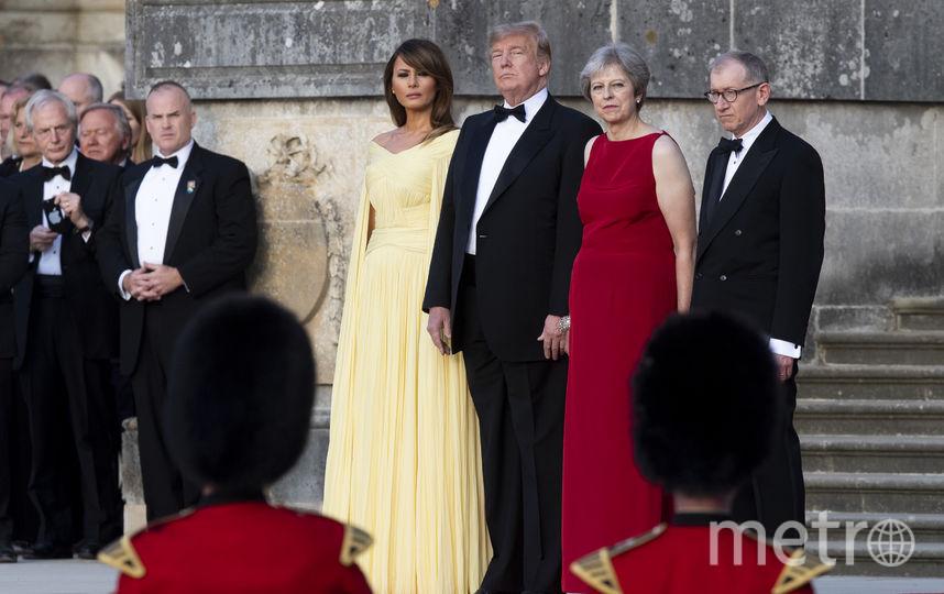 Мелания и Дональд Трамп с премьер-министром Великобритании Терезой Мэй и её супругом. Фото Getty