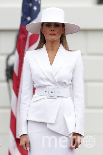 Мелания Трамп в необычной шляпе стала мемом. Фото Getty