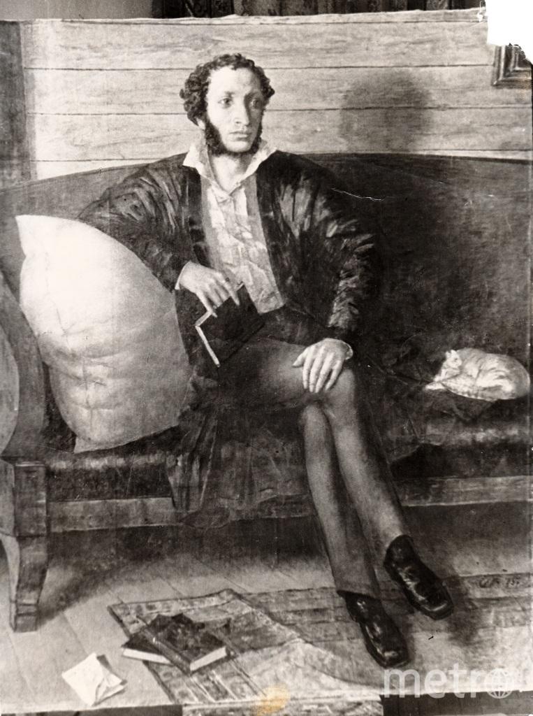 """Фото портрета А.С. Пушкина, который долгие годы считался утраченным. Фото предоставлено Русским музеем, """"Metro"""""""