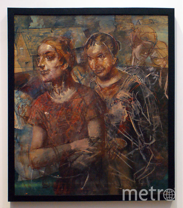 """Картина «Колхозницы». Фото предоставлено Русским музеем, """"Metro"""""""