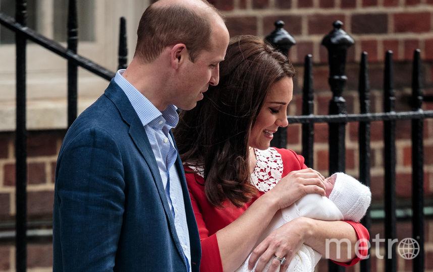 Кейт Миддлтон с мужем в день рождения принца Луи. Фото архив, Getty