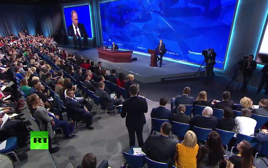 """Пресс-конференция Путина 20 декабря 2018 года. Фото """"Metro"""""""