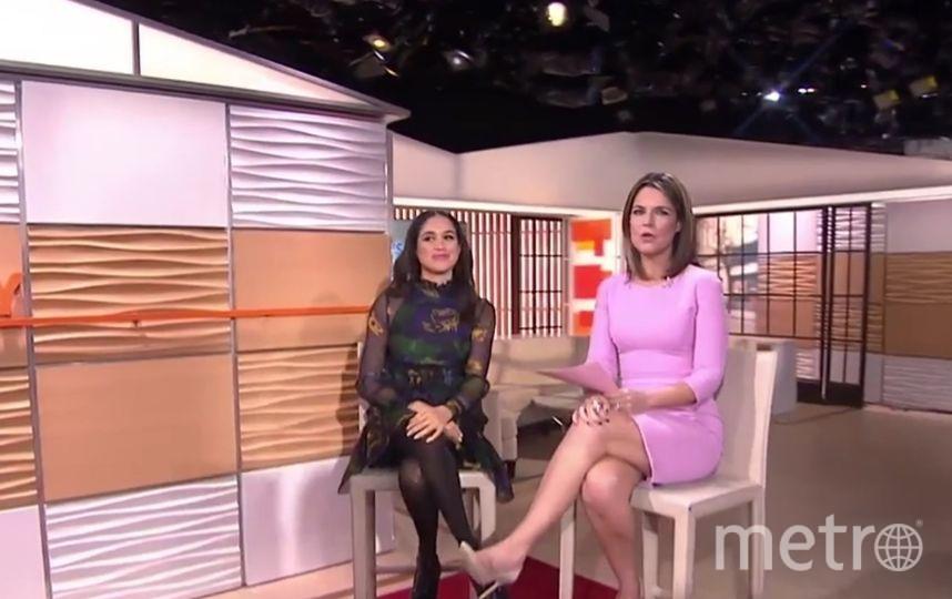 Меган Маркл на программе о моде в 2016. Фото скрин-шот, Скриншот Youtube