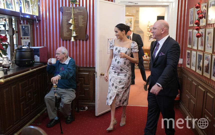 Меган Маркл и ее выход накануне обеда у королевы. Фото Getty