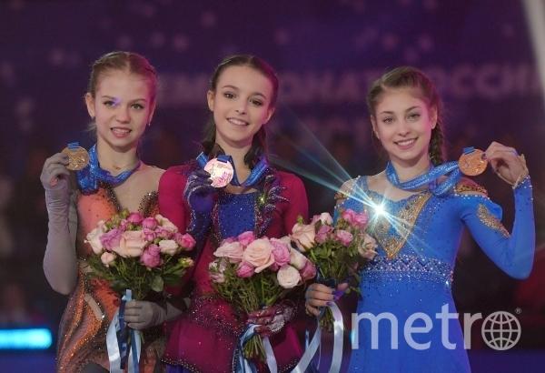 Призёры чемпионата России в женском одиночном катании. Фото РИА Новости