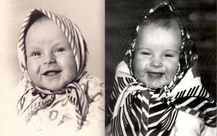 """На фото мне и дочери по 5 месяцев. Платки случайно оказались похожими, но мы хотим продолжить эту традицию. Фото мы назвали бы """"Ровесницы"""". Фото Елена"""