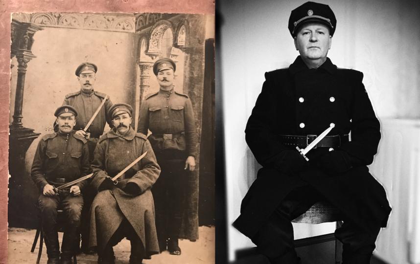 Соколов Алексей Алексеевич и его дед Хоботов Дмитрий. Фото Светлана Соколова