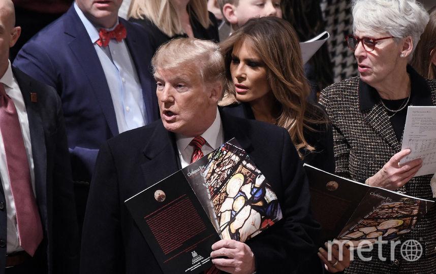 Дональд и Мелания Трамп посетили рождественскую службу. Фото Getty