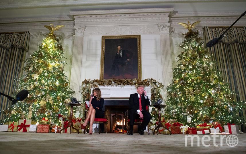 Президент США Дональд Трамп с женой Меланией. Фото AFP
