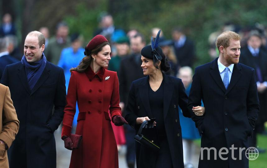 Принц Уильям, Кейт Миддлтон, Меган Маркл и принц Гарри. Фото Getty