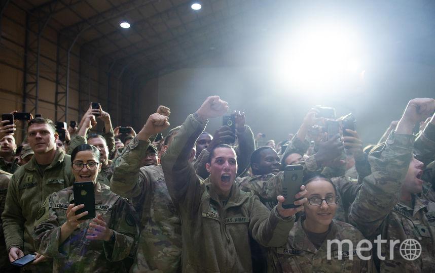 Дональд и Мелания Трамп посетили американскую авиабазу в Ираке. Фото AFP