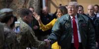 Дональд и Мелания Трамп неожиданно посетили американскую авиабазу в Ираке