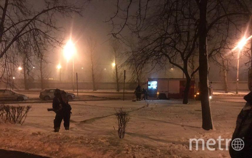 Фото с места пожара на Народного ополчения. Фото vk.com