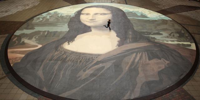 "Картина Леонардо да Винчи ""Мона Лиза""."