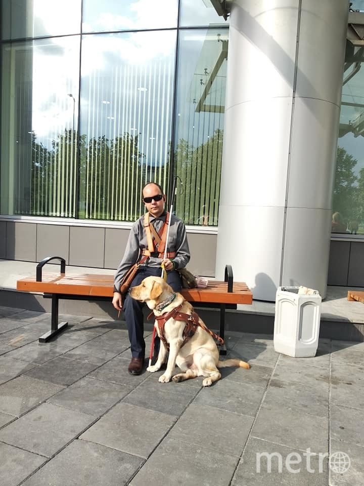 Ринат и его собака. Фото Facebook/rinat.shaidullin