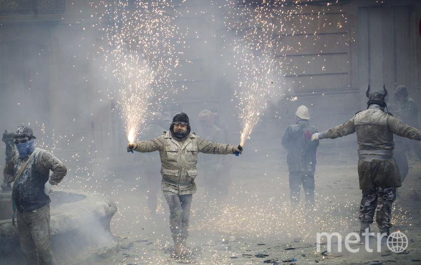 Яично-мучная прошла в испанском городе Иби. Фото AFP