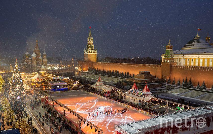 Красная площадь в Москве - традиционное место для новогодних гуляний. Фото AFP