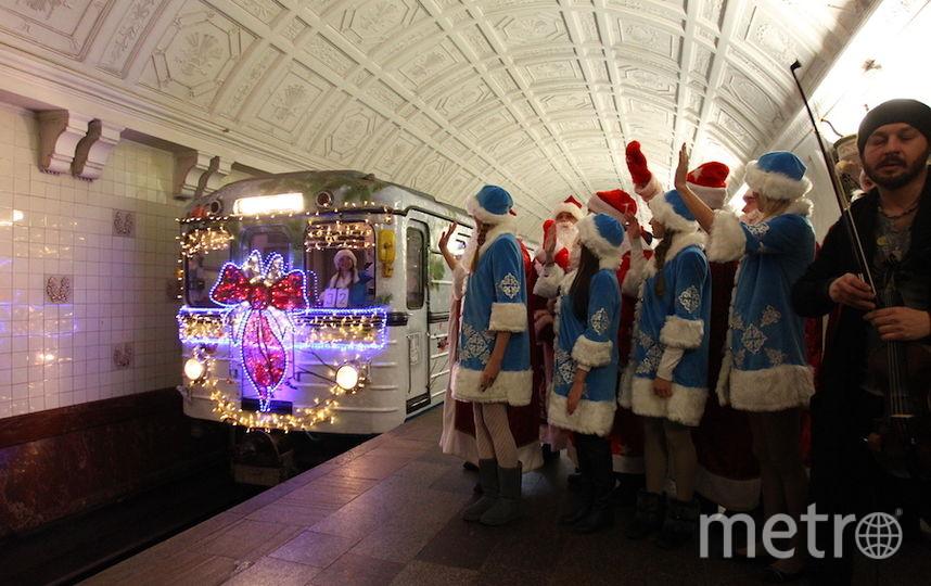 Новогодний поезд в метро (архивное фото). Фото Василий Кузьмичёнок