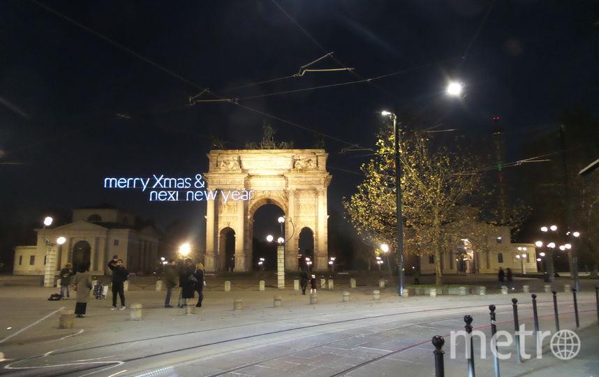 """Новогодний Милан. Фото """"Metro"""""""