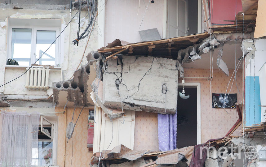 Основная версия обрушения этаже в доме в Магнитогорске – взрыв бытового газа. Фото AFP