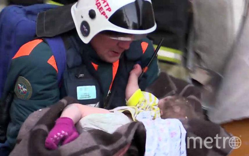 Спасённый ребёнок. Фото AFP