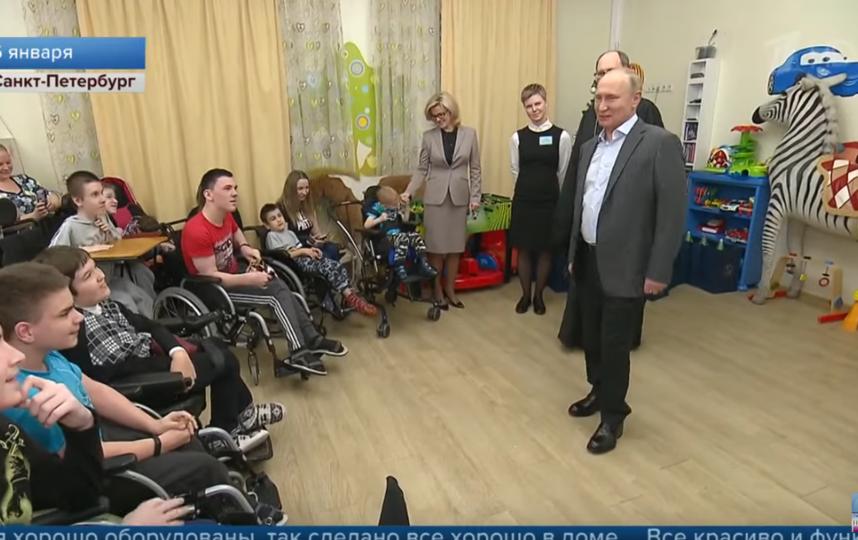 Владимир Путин посетил детский хоспис в Петербурге. Фото Скриншот Youtube