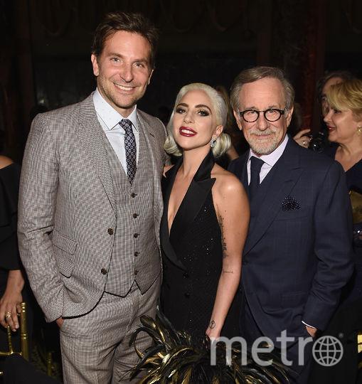 Леди Гага, Брэдли Купер и Стивен Спилберг. Фото AFP