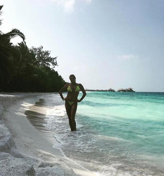 Волочкова на Мальдивах, 2017-й год. Фото скриншот https://www.instagram.com/volochkova_art/?hl=ru