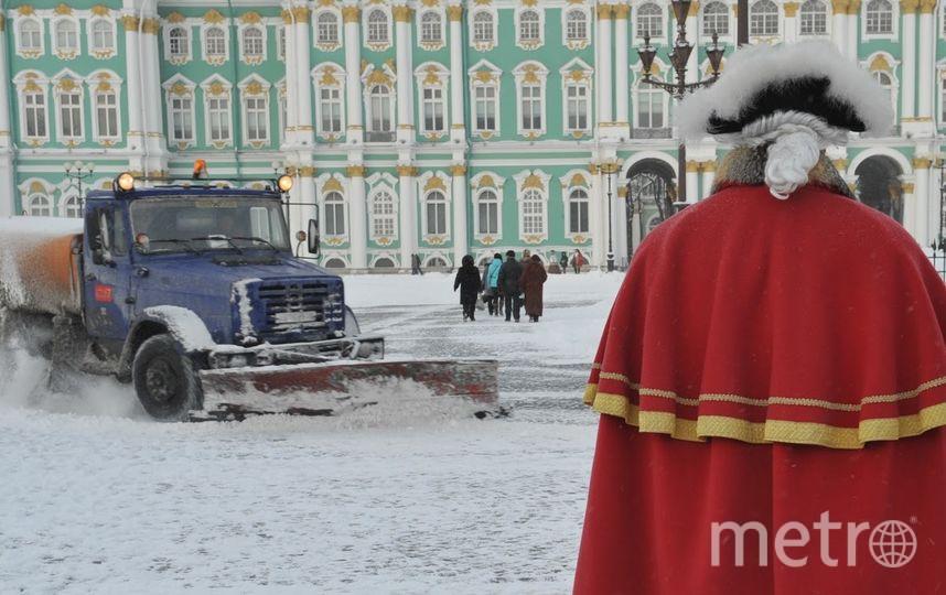 """В Петербурге в ближайшие дни продолжатся снегопады. Фото """"Metro"""""""