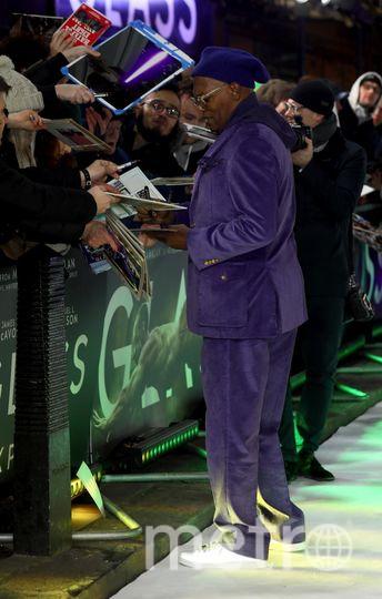 """Премьера фильма """"Стекло"""" в Лондоне. Сэмуэль Л. Джексон. Фото Getty"""