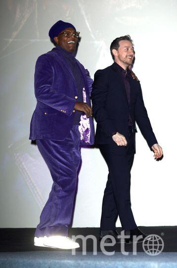 """Премьера фильма """"Стекло"""" в Лондоне. Самюэл Джексон и Джеймс МакЭвой. Фото Getty"""