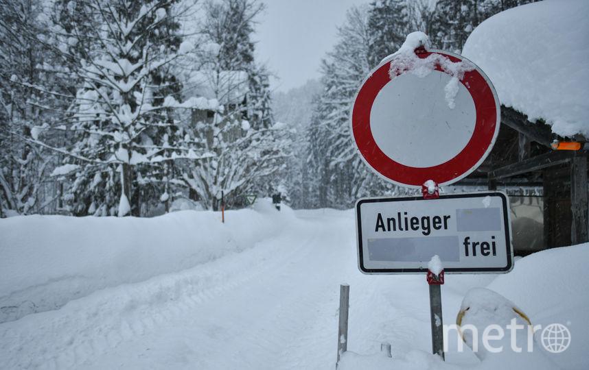 В Австрии и Германии снежная буря. Фото Getty