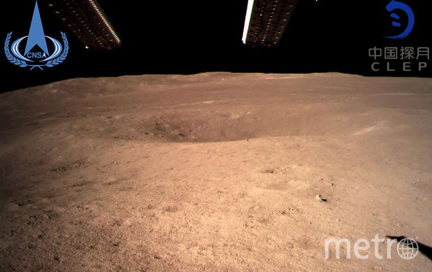 Снимок обратной стороны Луны, выполненный «Чанъэ-4». Фото AFP