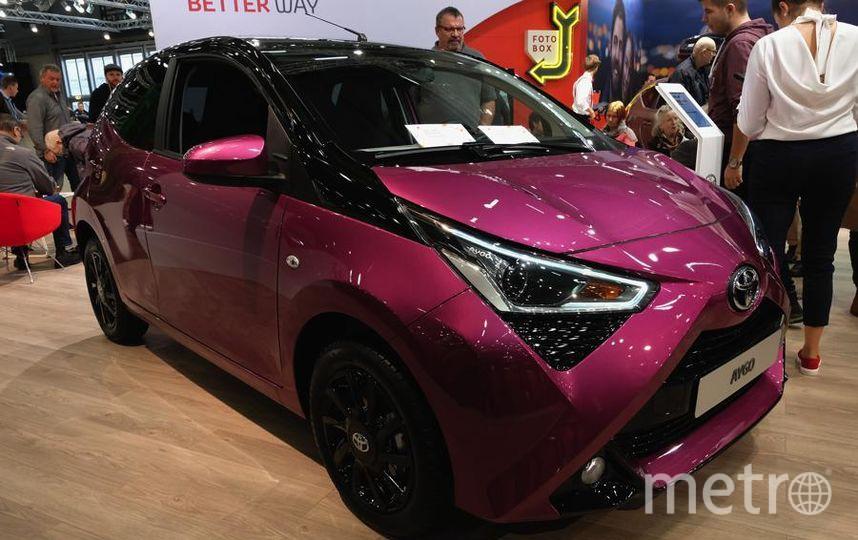 Автосалон в Вене (Vienna Autoshow 2019). Toyota Aygo. Фото Getty
