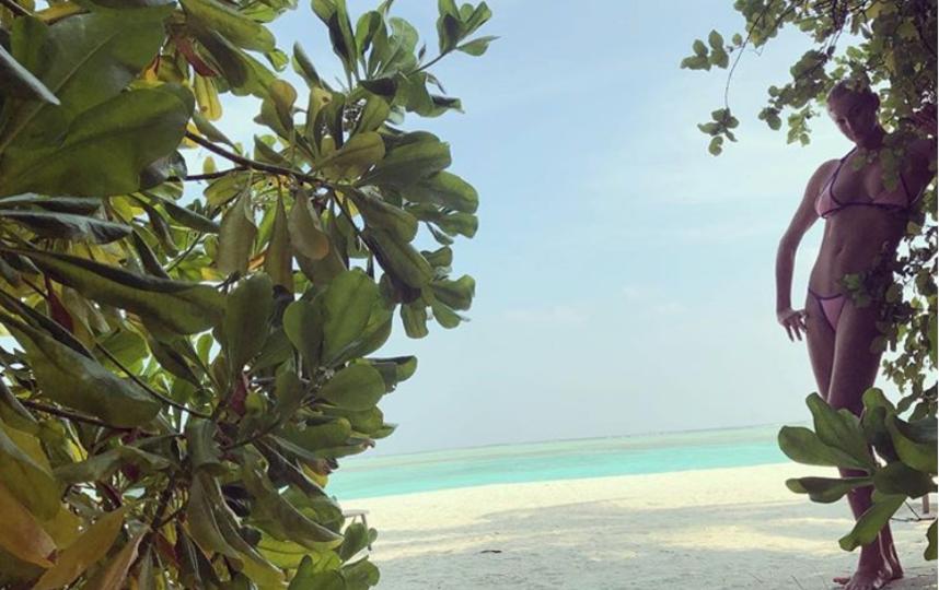 Волочкова на Мальдивах, январь 2019. Фото instagram.com/volochkova_art